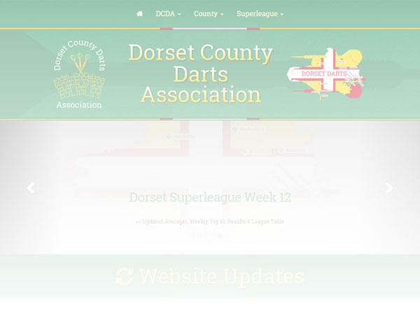 Dorset Darts Website Redesign