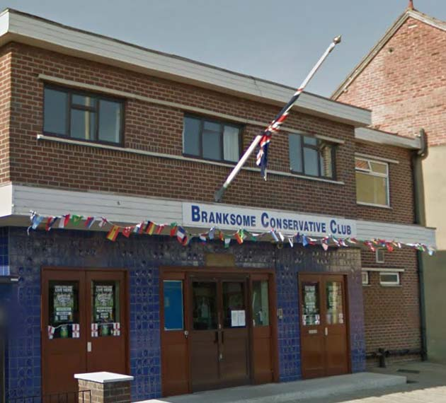 The Branksome and Upper Parkstone Conservative Club in Parkstone, Bournemouth, Dorset