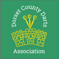 Dorset County Darts Association on Green Background Logo