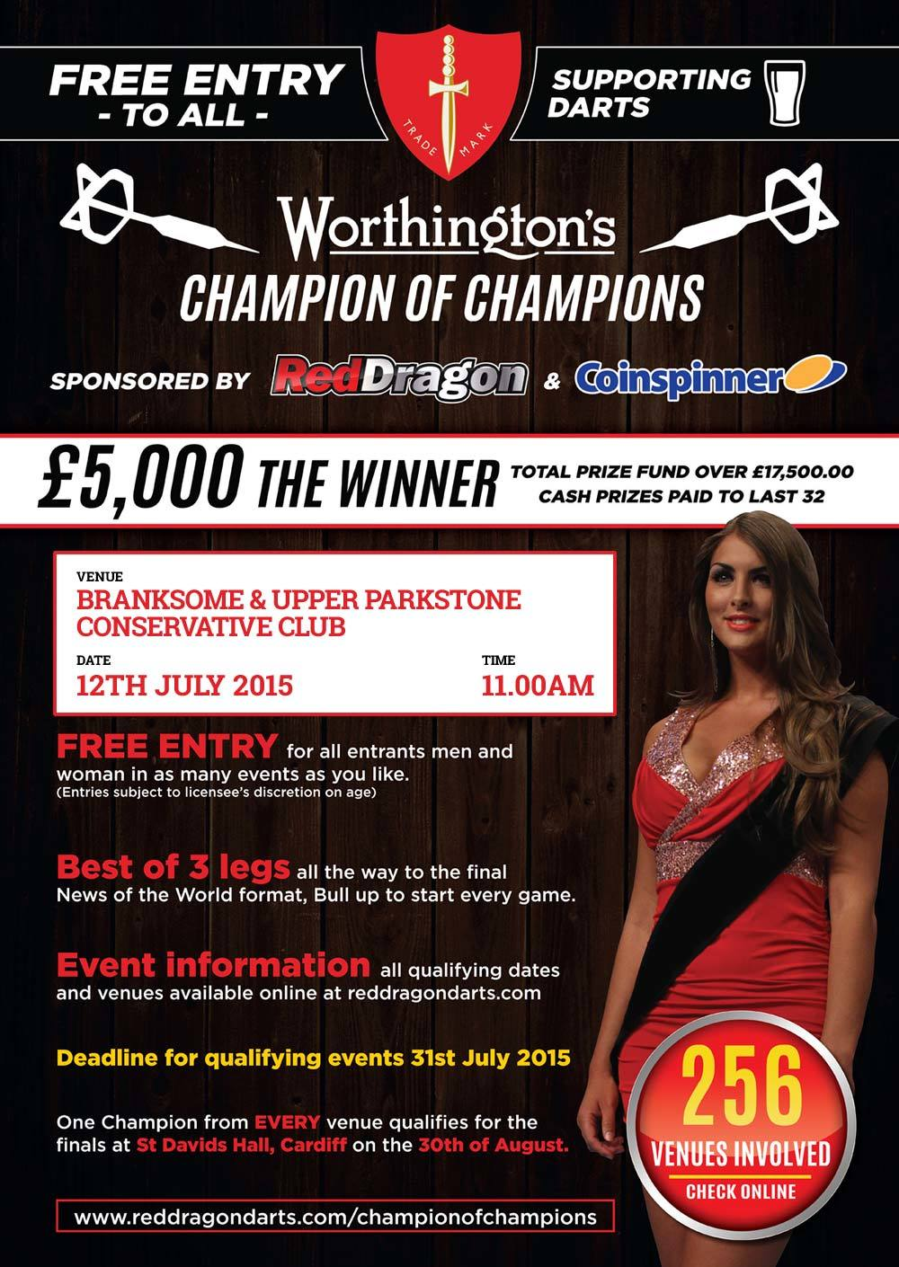 Worthington's Champion of Champions Qualifiying Competition 2015 Poster