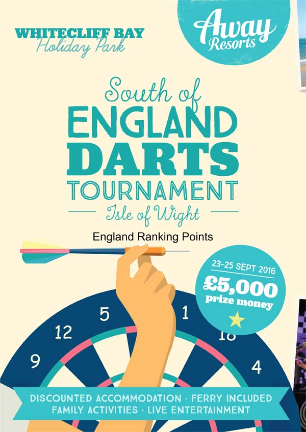 South of England Open Darts Tournament 2016 Poster