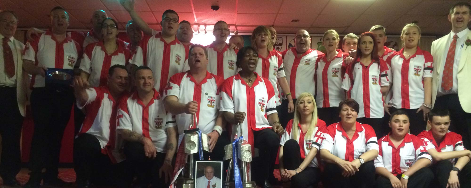 England Team for the BDO Winmau British International Darts Championships 2015 - Banner