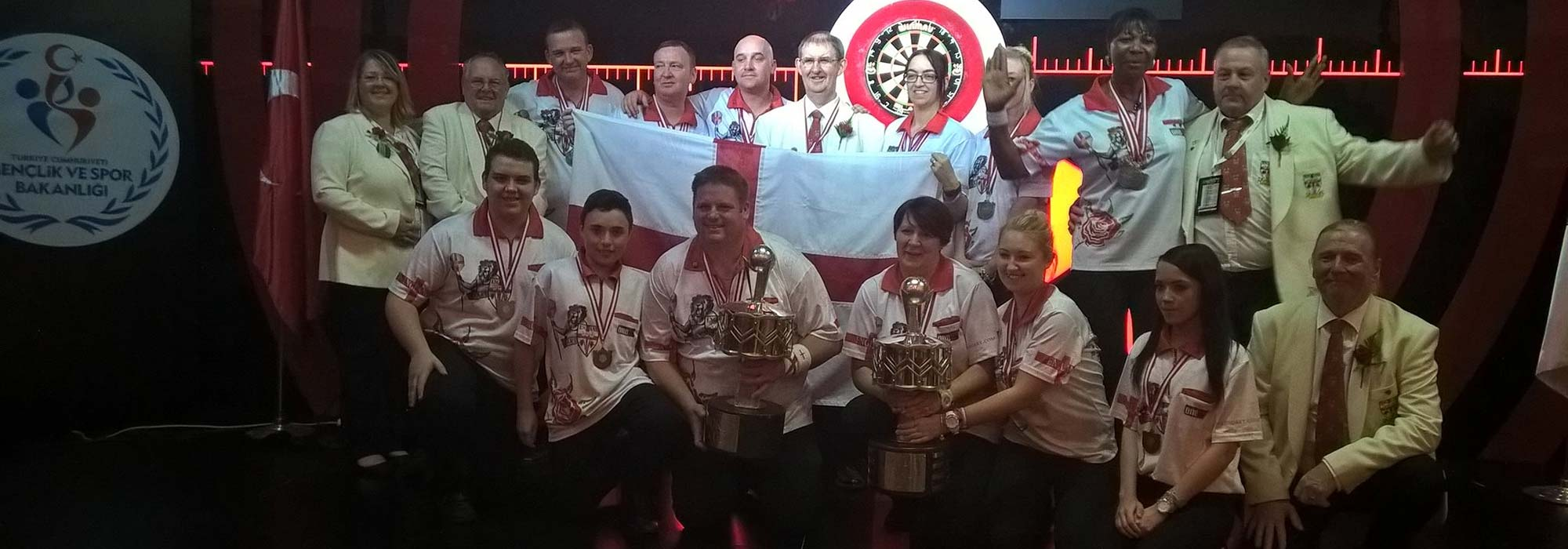 WDF World Cup 2015 Winners England - Banner