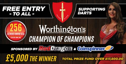 Champion of Champions Banner 2015 - Dorset County Darts Association