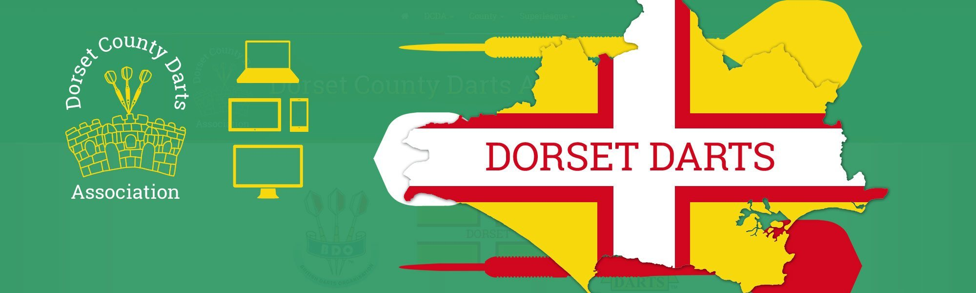 Dorset County Darts Association Website Redesign - Banner
