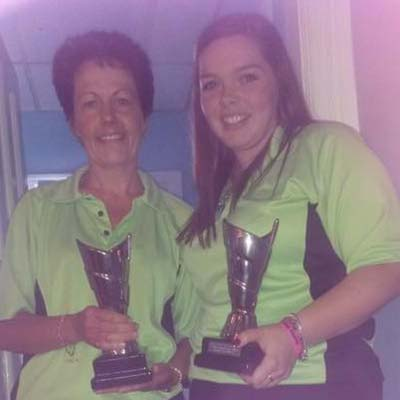 Dorset Superleague Pairs Runners-up Jean Brown and Katie Mitchell 2014-2015