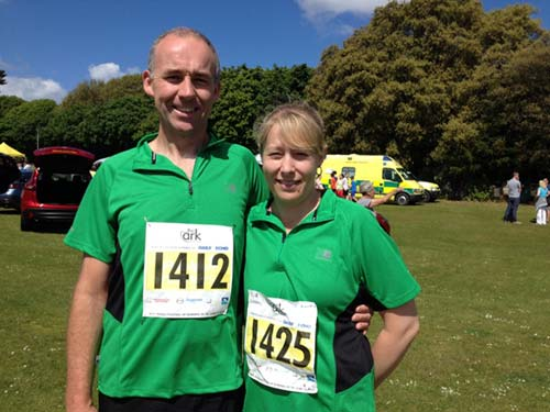 Poole Festival of Running 2015 - Mark Porter and Suzy Trickett before the run