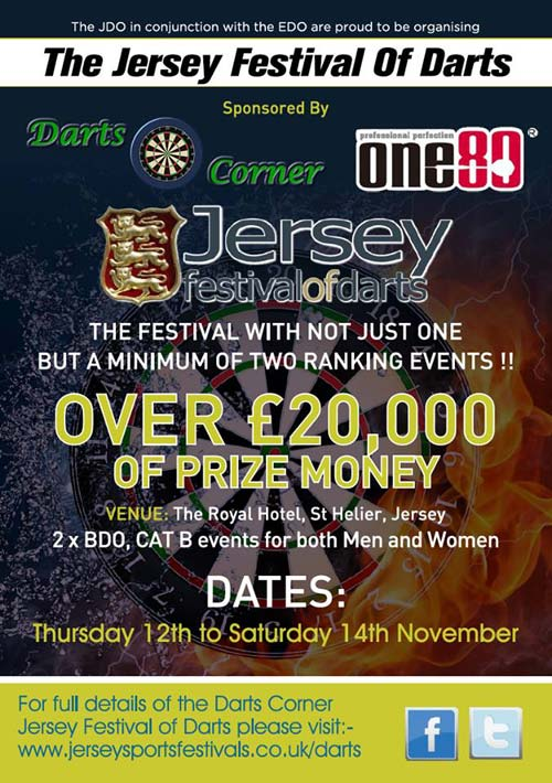 Jersey Festival of Darts 2015 Poster Front