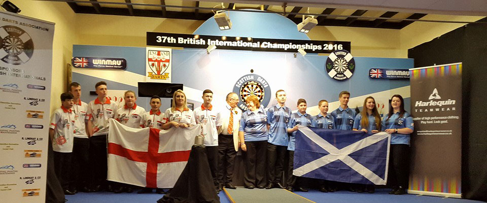 England Youth v Scotland Youth at British Internationals 2016