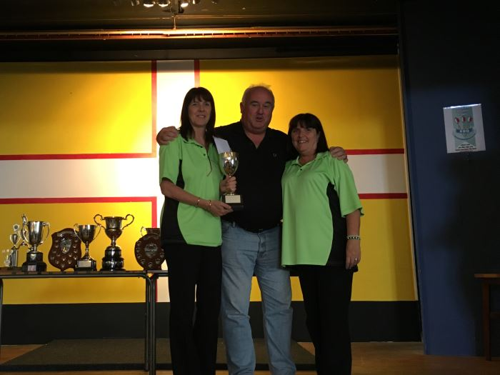 Dorset Superleague Ladies Challenge Cup Champions Julie Boggust and Trina Perry 2015-2016
