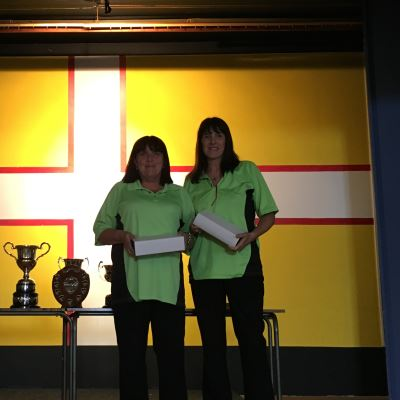 Dorset Superleague Ladies Pairs Runners-up Julie Boggust and Trina Perry 2015-2016
