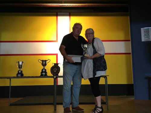 Dorset Superleague Ladies Singles Champion Carol Llewellyn 2015-2016