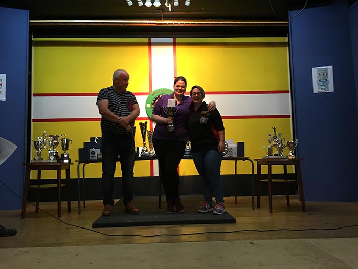 Dorset Superleague Ladies Challenge Cup Champions Abi Northover and Sam Kirton 2016-2017
