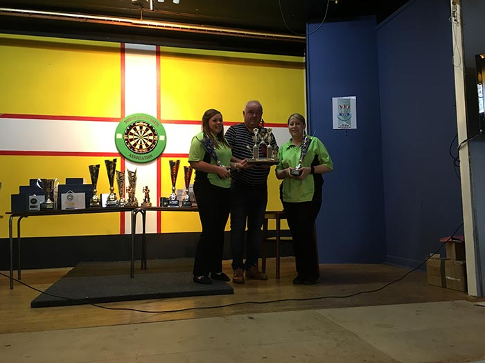 Dorset Superleague Men's Pairs Champions Lytchett Katie Mitchell and Suzy Trickett 2016-2017