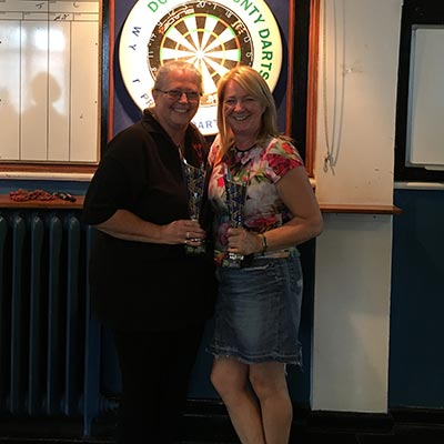 Dorset Superleague Ladies Pairs Runners-up Carol Llewellyn and Julie Barrow 2016-2017