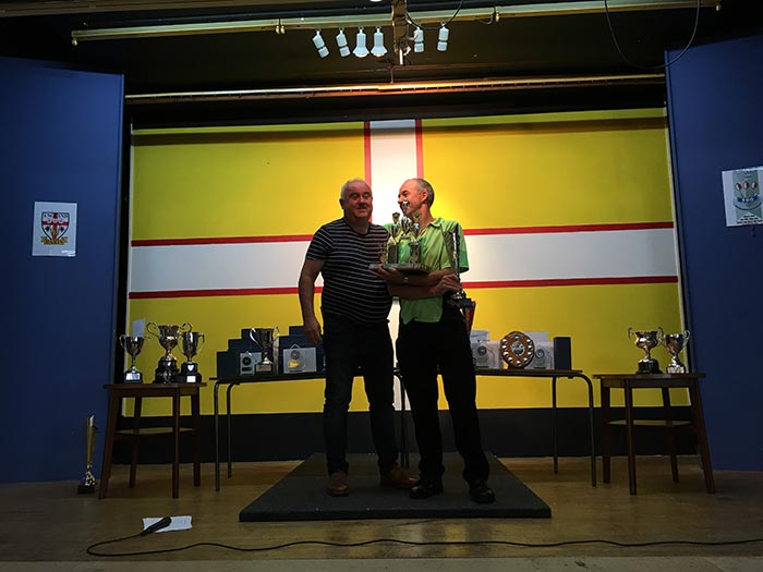 Dorset Superleague Men's Pairs Champions Lytchett Mark Porter and Dale Masterman 2016-2017