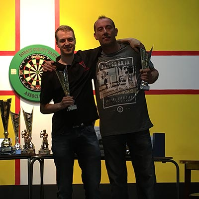 Dorset Superleague Men's Pairs Runners-up Parkstone Daniel Adams and Lawrence Prodger 2016-2017