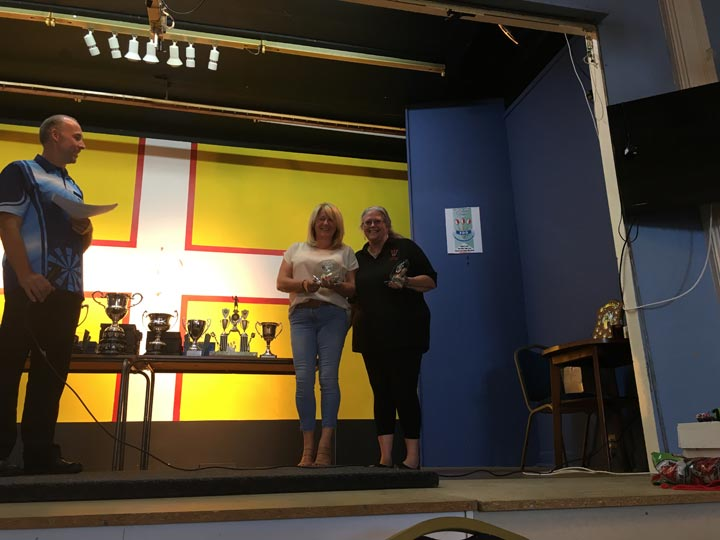 Dorset Superleague Ladies Pairs Runners-up Carol Llewellyn and Julie Barrow 2017-2018