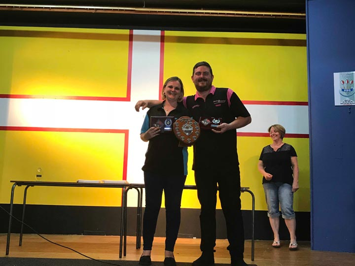 Dorset Superleague Mixed Pairs Champions Peri Yarrow and Henry Cooper 2017-2018